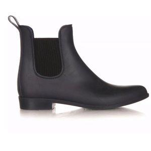 J Crew Chelsea Rubber Rain Duck Boot Bootie Black